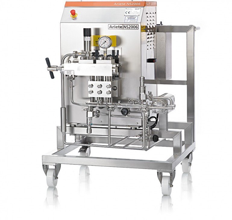 High pressure homogeniser for cell disruption in the pharmaceutical industry