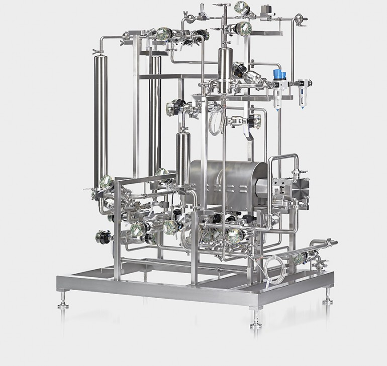 Virus filtration skid for blood plasma