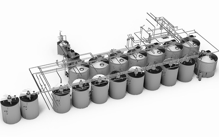 Layout of the new chocolate tank farm